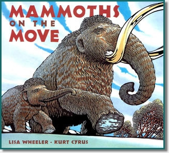 two large mammoths walking